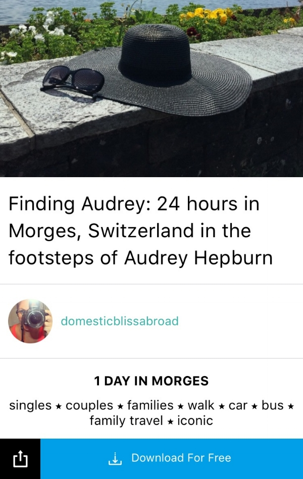 Jennifer's  guide  re-creates icon Audrey Hepburn's life in Morges, Switzerland