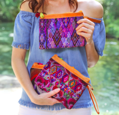 Every advocate who raises $1000 *claimed* - will receive a Trades of Hope 'Mosaic Clutch' crafted by artisans in Guatemala.