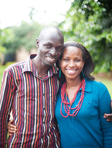 Jalia & Daniel, Ugandan artisanal entrepreneurs, inspired founder, Jessica Honegger to start Noonday Collection in 2010. Read the full story  here .