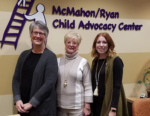 Dressember founder, Blythe Hill, was recently able to visit McMahon/Ryan Child Advocacy Center to meet the team and see their impact.