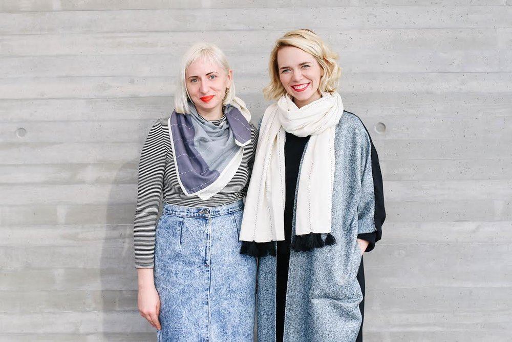 Colleen Clines (right) founded Anchal Project in 2014. Soon after, her sister, Maggie, joined her as Creative Director