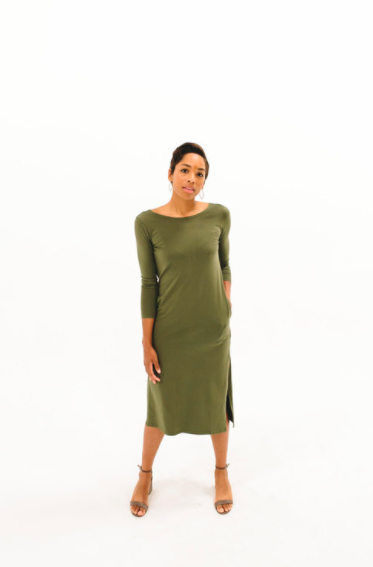 2017 DRESSEMBER DRESS - THE BRIT IN OLIVE