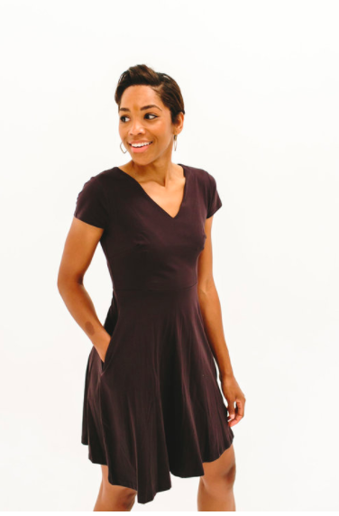 2017 DRESSEMBER DRESS - THE SIERRA IN CHARCOAL