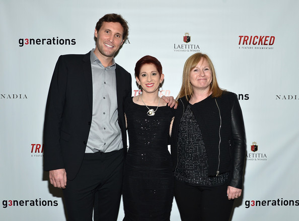 "Director John-Keith Wasson, sex trafficking survivor Danielle Douglas, and Director Jane Wells at the ""TRICKED"" premiere in New York City. (Dec. 12, 2013 - Source: Mike Coppola)"