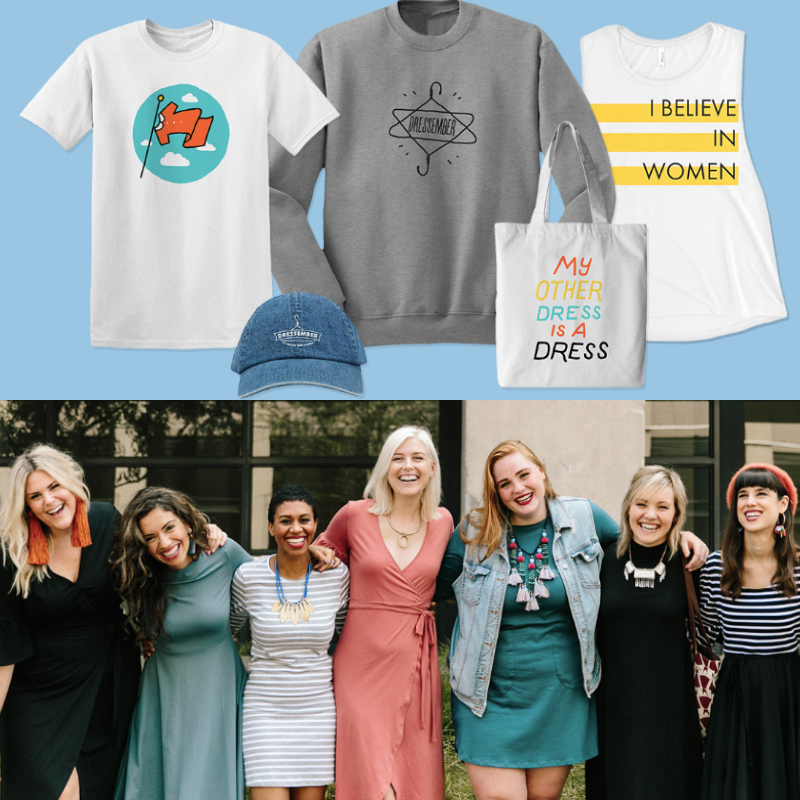 Every advocate who raises $300+ in January - will receive their choice of either a Dressember dress, Dressember apparel item, or Giving Key**Items subject to availability