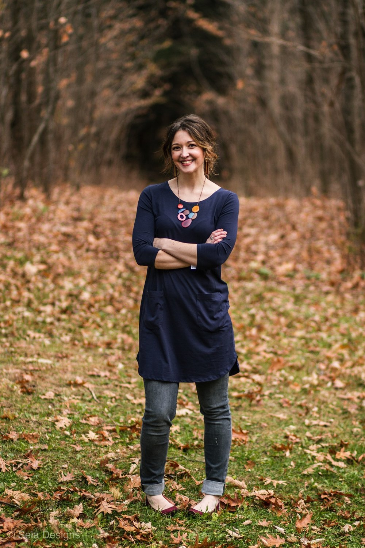 Photo of Ashleigh Becker, founder of Sela Designs.