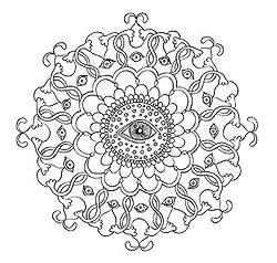 Sample Mandala Coloring Page