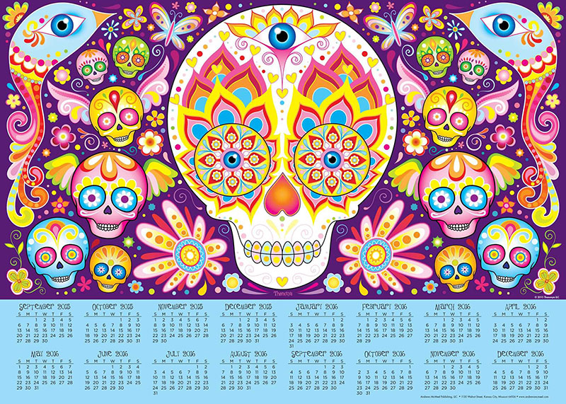2016 Sugar Skull Calendar Poster by Thaneeya McArdle