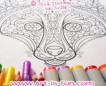 Groovy Fox Coloring Page by Thaneeya