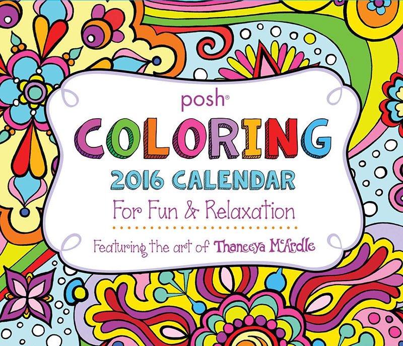 Posh Day-to-Day Coloring Calendar by Thaneeya