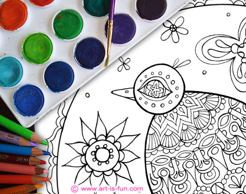 Printable Bird Coloring Pages