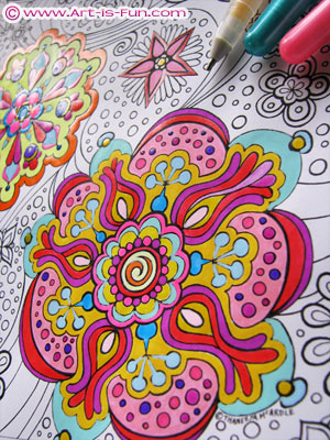 abstract art coloring book by thaneeya - Coloring Pages Art