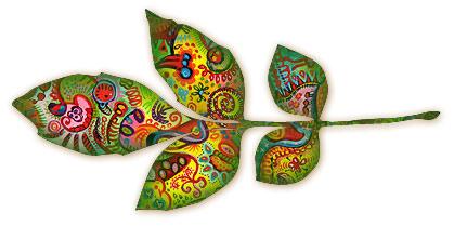 Abstract leaf by Thaneeya