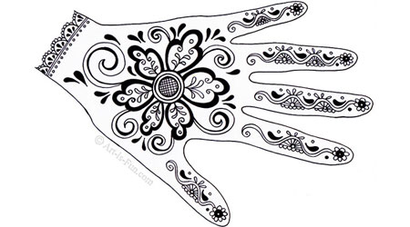 How to Create Henna Hand Designs