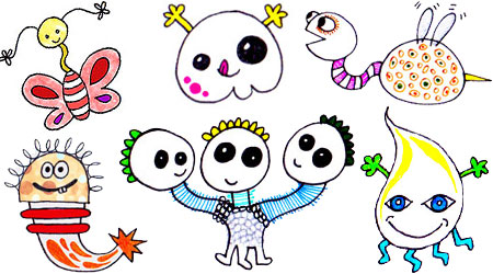 Learn How To Draw Cute Doodle Monsters
