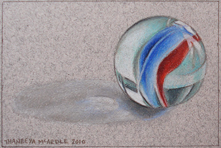 Finished Drawing of a Marble