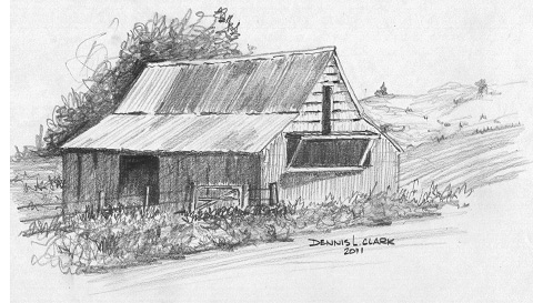(You'll learn to draw this barn during the course!)