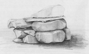 Learn how to draw rocks
