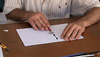 Nolan demonstrates a technique for drawing texture.