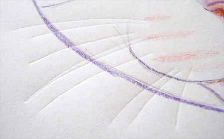 Colored Pencil and Pen Indentation Technique