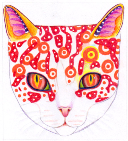 Coloring in the cat