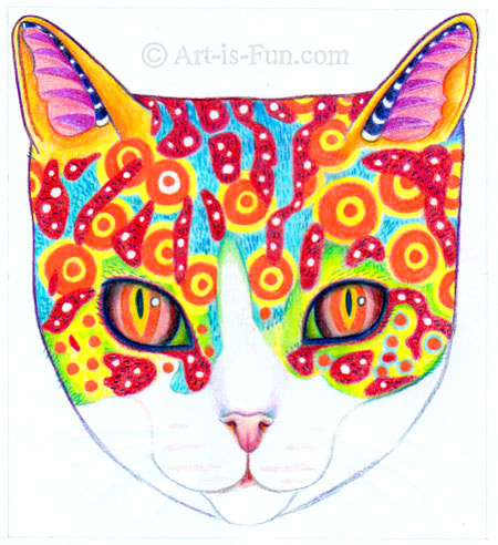 How to draw a cosmic cat