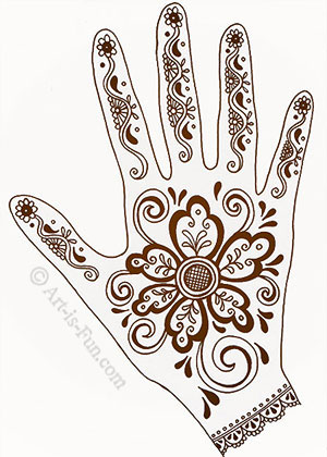 Henna Hand Designs Lesson with Thaneeya