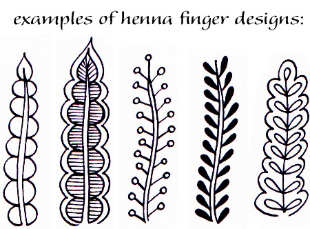 Examples of Henna Finger Designs