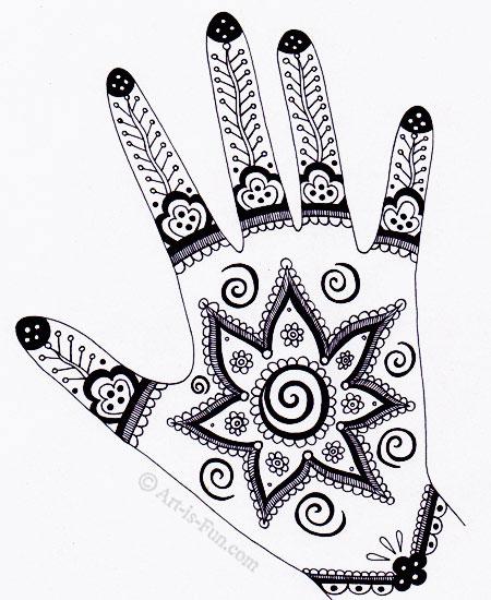 Henna Hand Designs on Art is Fun