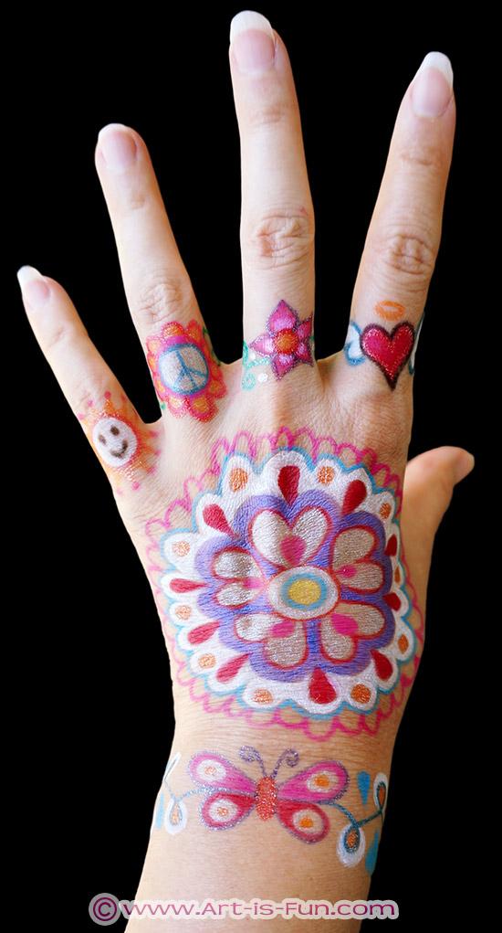 c5657dc7adca6 Henna Hand Designs Art Lesson: Make a Unique Self-Portrait — Art is Fun