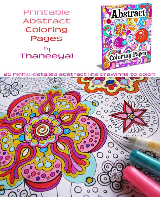 Printable Coloring Books by Thaneeya