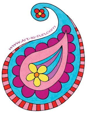 How to Draw Paisley Easy Designs To Draw For Kids