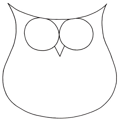 Drawing With Lines And Shapes : How to draw an owl learn a cute colorful in