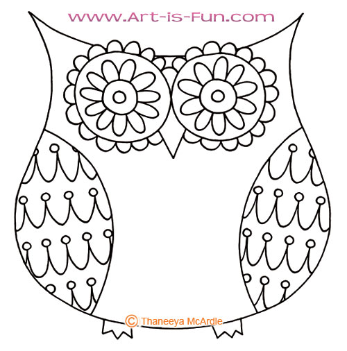 How to draw an owl learn to draw a cute colorful owl in for Draw the owl
