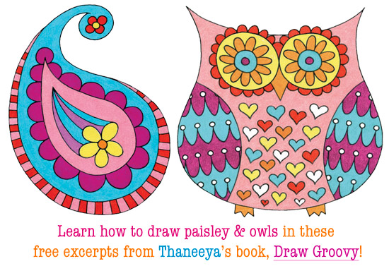 How to Draw Paisley and Owls