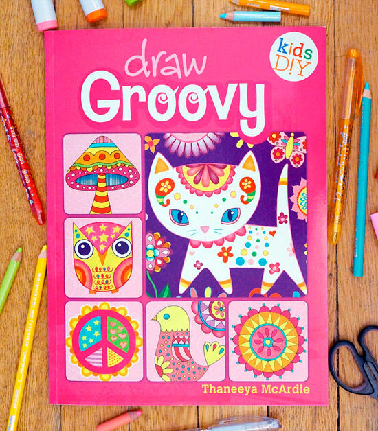 Draw Groovy Drawing Book by Thaneeya