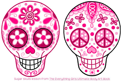 Sugar Skulls Doodle Tattoo Drawing