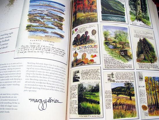 Sketchbook pages by Margy O'Brien