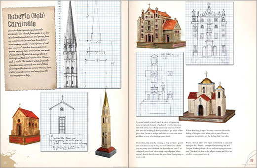 Sketchbook pages by sculptor Roberto (Bob) Cardinale