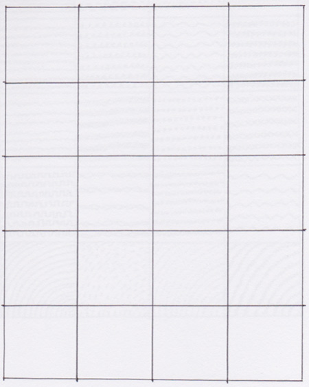 Blank Grid for our sketchbook assignment