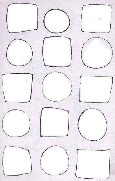 Squares and circles for our sketchbook assignment