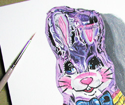 Photorealist Bunny Close-Up by Thaneeya