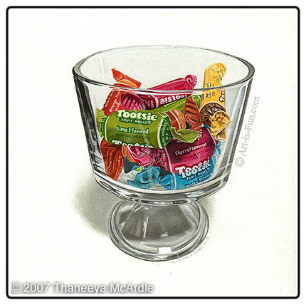 How to paint glass objects photorealistically tips and for Can i paint glass with acrylic paint