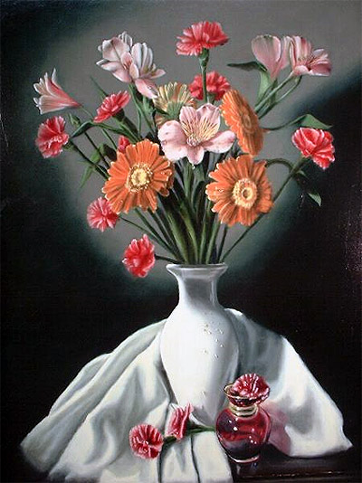 """Fall Bouquet, 18"""" x 24"""", Oil on Board by Delmus Phelps"""