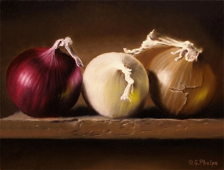 Onions Too, Oil Painting by Delmus Phelps