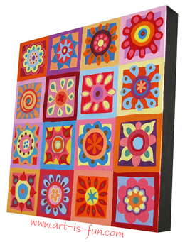 Abstract Art Flower Painting Lesson