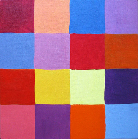Painted Squares in Grid