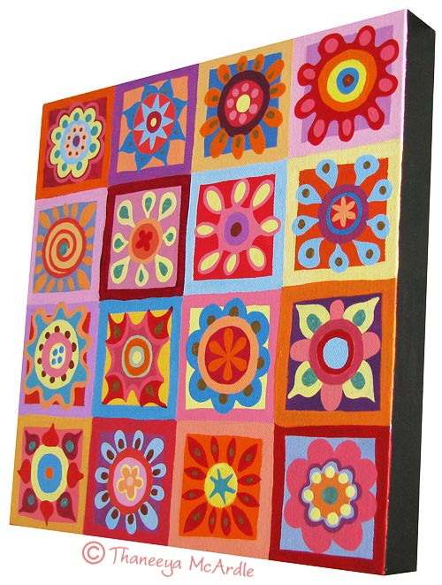 Colorful Floral Abstract Lesson on Art is Fun