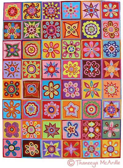 Detailed Flower Abstract Art
