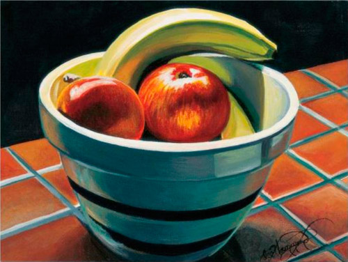 Still life painting by Lee Hammond, as seen in Lee Hammond's Big Book of Acrylic Painting. If this is the type of art you'd like to create, then read on to learn more about this book!